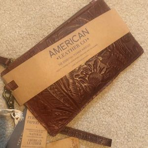 American Leather Co. Phone Charging Clutch